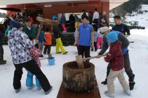 松之山温泉スキー場新春餅つき大会 @ 松之山温泉スキー場