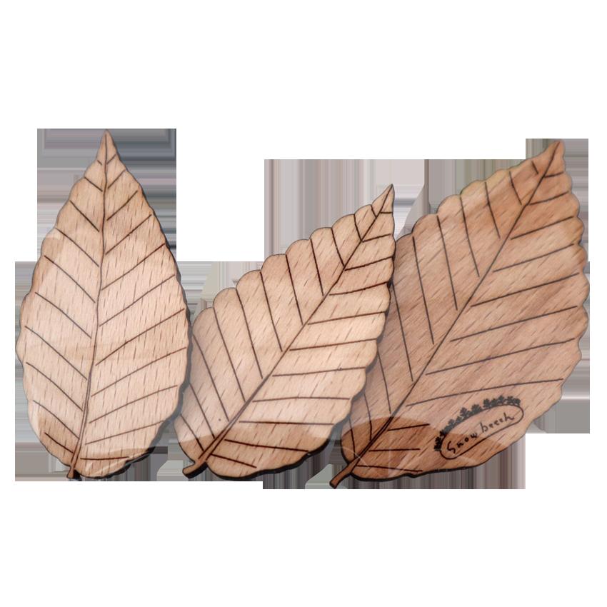葉っぱの磁石