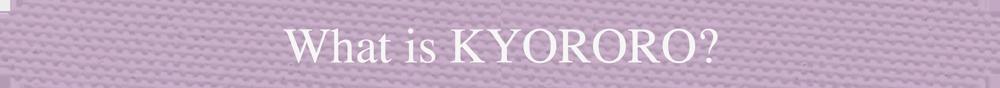 What is KYORORO?